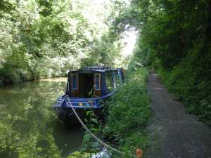 Mooring in the Tring Cutting