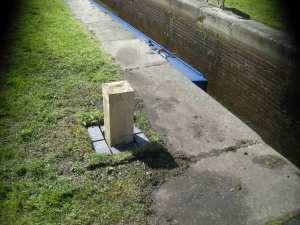 New bollards at Perry Barr locks