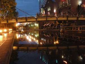 Brindley Place by night