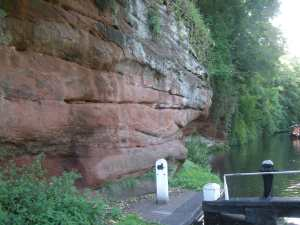 Dramatic sandstone cliffs