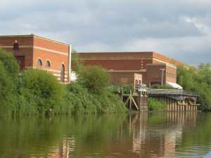 Grand waterworks just outside Tewkesbury