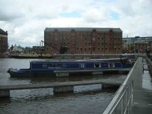 A view of Gloucester Docks