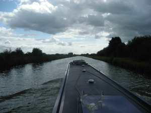 Wide vistas on a broad canal