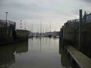 View back to Portishead Marina