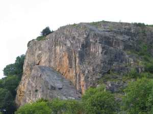 Climbers in the Avon Gorge - I'd rather be boating!