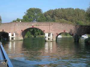 Sonning Bridge - take the centre arch and watch out for the flow from your left just after the bridge!
