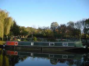 Lovely views from our fine moorings in Perivale