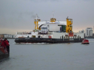 Panacea dwarfed by the Woolwich Ferry