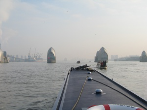 Approaching the Thames Barrier