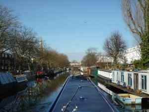 Lovely views leaving Little Venice