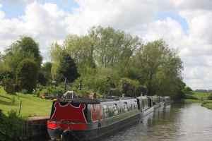 Neat moorings at Somerton