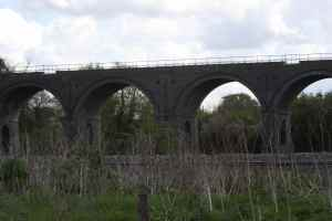 This high railway viaduct really stood out against the otherwise flat landscape