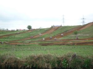 Quad bike race - great view from the river