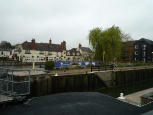 Secure moorings at Sandford Lock