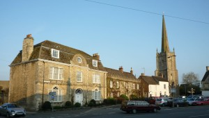 Lechlade aglow in the evening sun