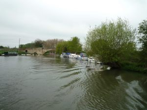 A last look back at Ha'penny bridge, Lechlade