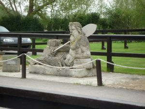 Father Thames at St john's Lock - carved in 1858 for the Crystal Palace