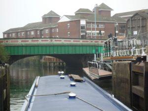 Brentford's new lock landing platform