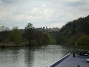 Underway towards the great house at Cliveden (now a hotel)