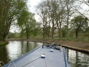 The cut above Cookham Lock - obviously a new embankment but will it become new moorings?