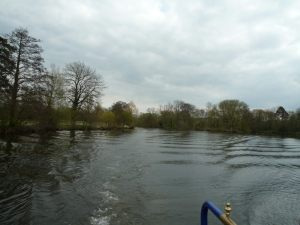 A wilder landscape upstream of Marlow