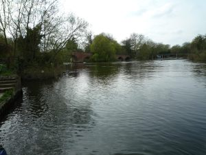 Sonning Bridge (red brick) - watch out for strong flows from the weir (under the timber footbridge)