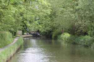 Moving off from Lapworth Top Lock