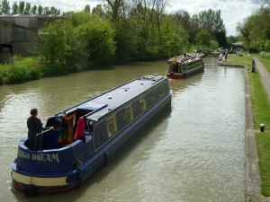 View enhanced by two fine narrowboats!