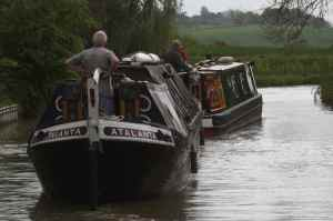 nb Daniel Oakley towing Atalanta - they were busy negotiating the shallow bends so no chance for a chat.