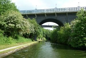 Smethwick Train Station and Galton Road Bridge beyond