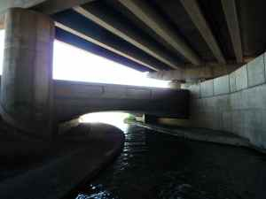 Gloomy surroundings at Anchor Bridge
