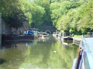 Dudley Tunnel's northern portal - good moorings, services and a museum - what more could you ask for?
