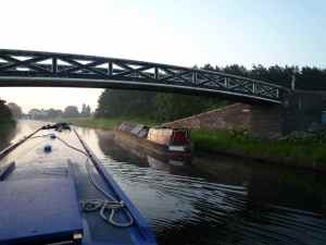 Fulbourne moored up at Pelsall Junction