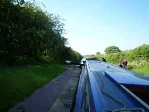 The long straight of the Rushall Canal contrasts sharply with the twists and turns of the Daw End Branch
