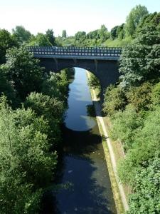 View down to the Canal from Smethwick Galton Bridge Railway Station