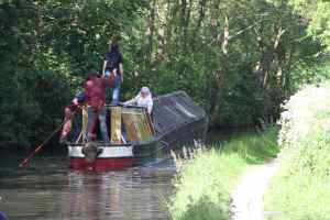 Fulbourne stuck mid-channel (or were they trying to save on diesel?)