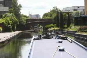We safely moored on the Digbeth Branch