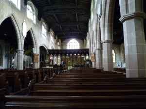 The interior of Knowle Church