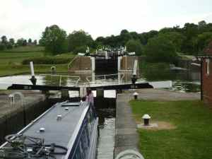 View up the Knowle flight - it's not that many locks but they certainly do make and impression on the landscape