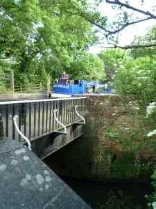 Aqueduct leading into a lock - a unique structure....