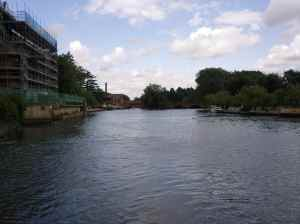 View upriver in Stratford on Avon