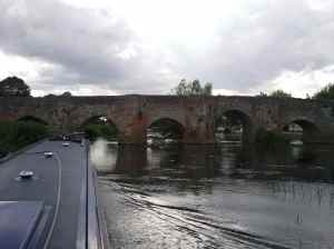 One of many eccentric bridges on the Avon