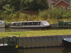 nb Millie at Heritage Marina, Evesham