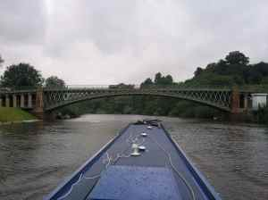 A rare sight - shapely bridge over the River Severn