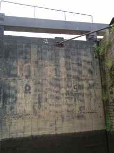 At 9.5 tons apiece it's just as well that the lock gates are electrically operated