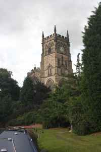 Classic view of the church above Kidderminster lock