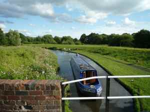 The view from Wolverley Court Lock