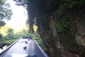 Overhanging sandstone cliffs - mind your head!