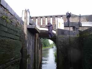That's such a dodgy bridge - particularly slippery in the rain