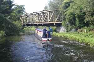 Low railway bridge - in good repair (we think it's disused)